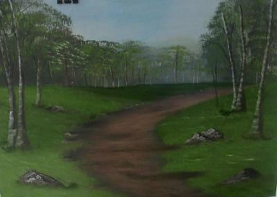 Path To Silence Painting by Florence Hazen