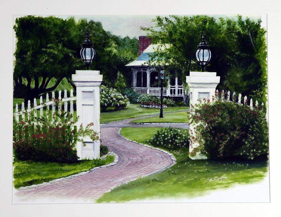 Path Painting - Path To The Garden Studio by Gail Wurtz