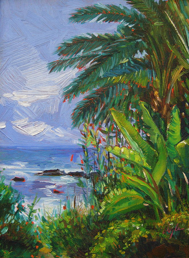 Spider Plant Painting - Path To The Sea by Karen Doyle