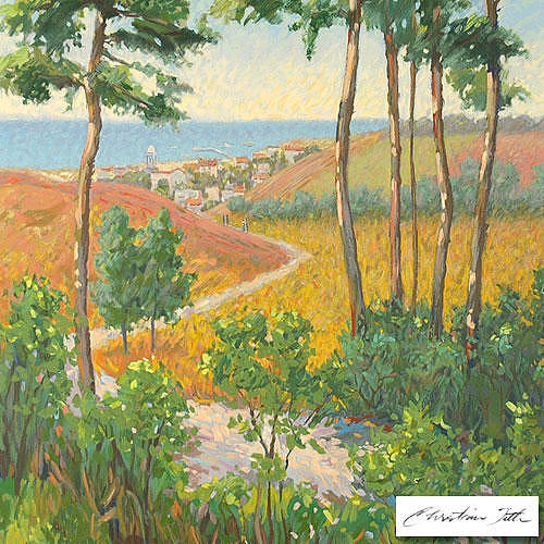 Path Painting - Path To The Village by Title Christian