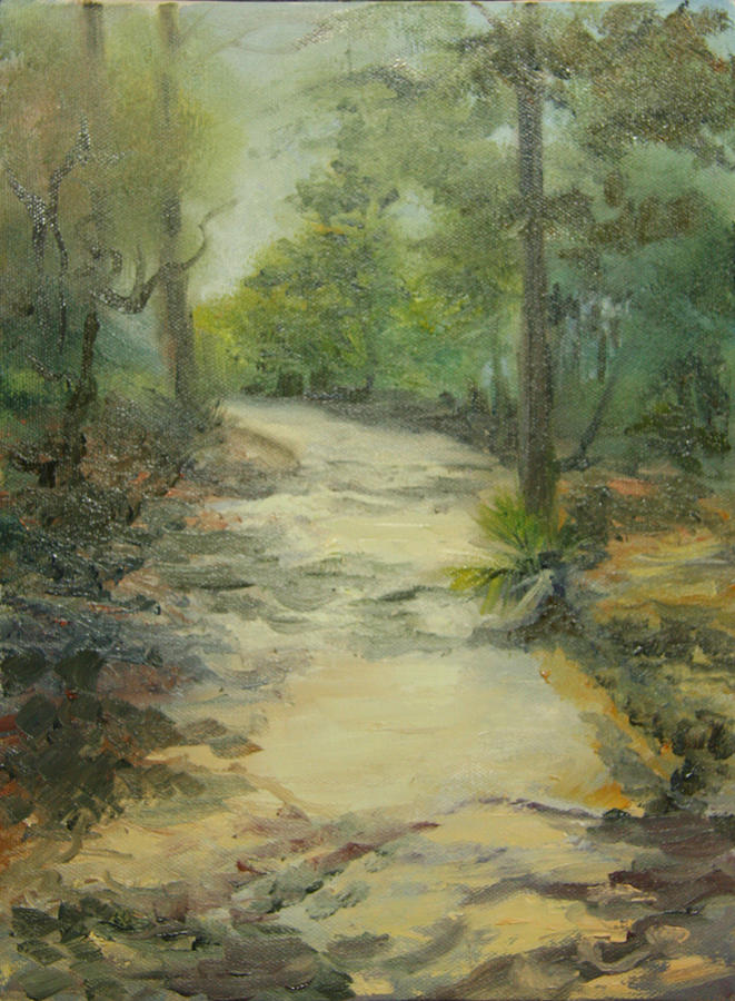 Oil Painting Painting - Path To Watercolor by Jill Holt