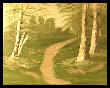 Path To Where Painting by Florence Hazen