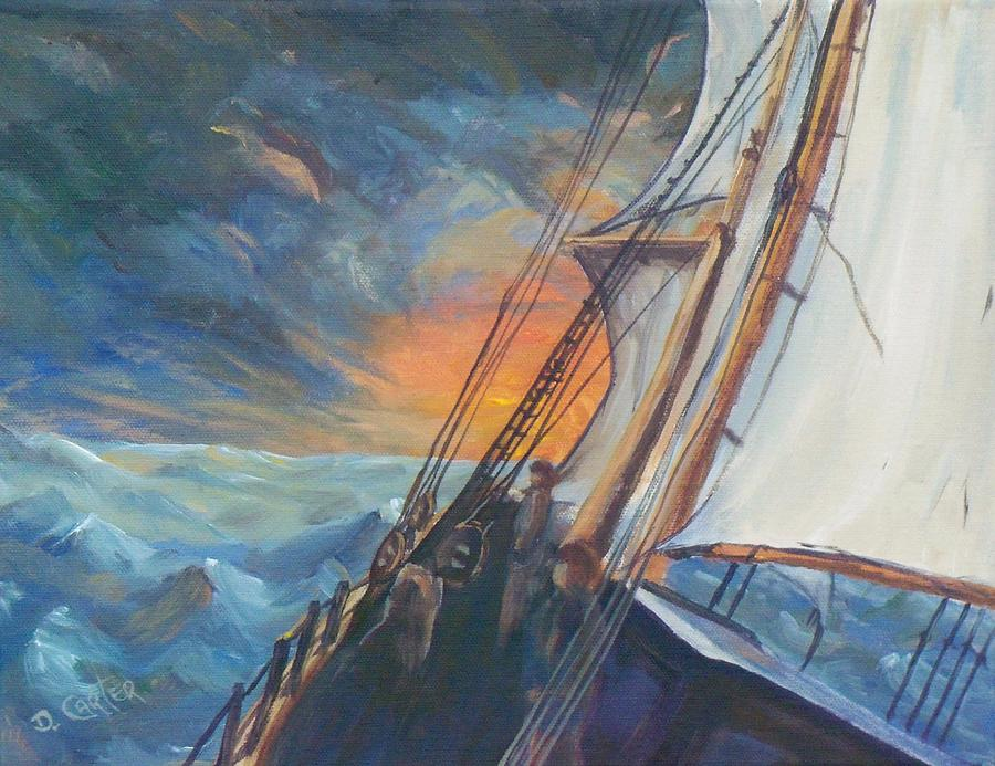 Seascape Painting - Pathfinder by David Carter