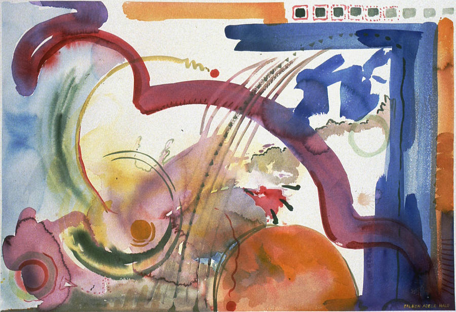 Abstract Painting - Paths and Places by Eileen Hale