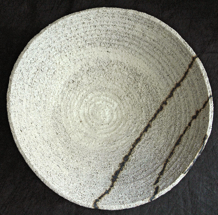 Bowl Ceramic Art - Paths by Penelope Vallejo