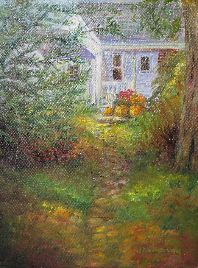 Pathway Painting - Pathway From The Treehouse by Jan Harvey