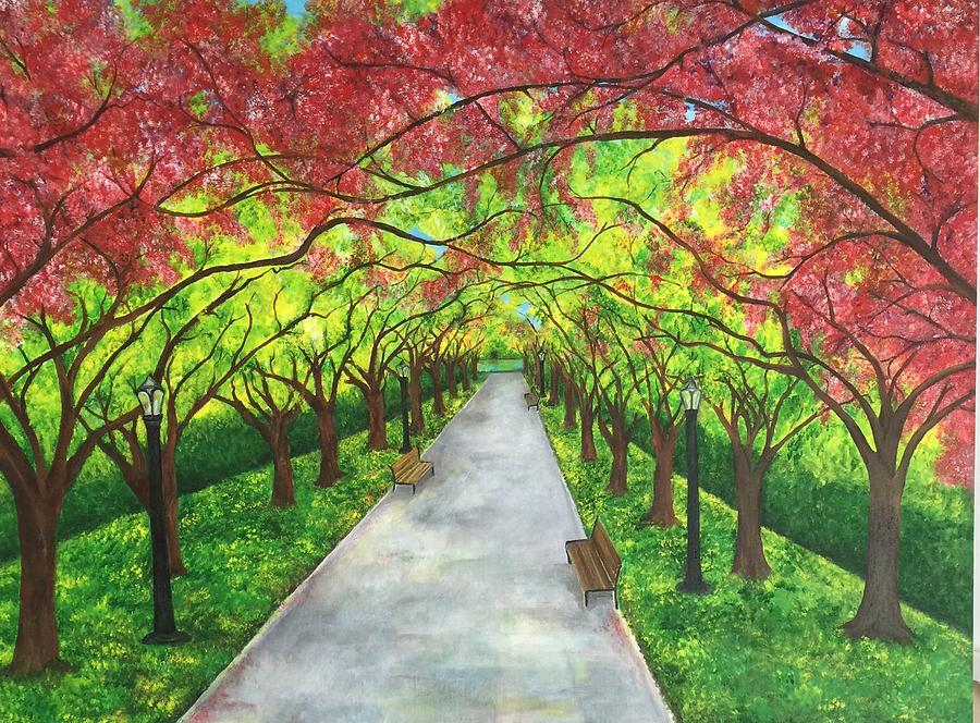 Pathway Painting - Serenity  by Lisa Bentley
