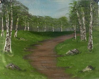 Pathway To Silence 2 Painting by Florence Hazen