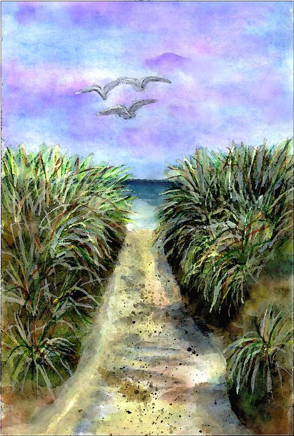 Beach Painting - Pathway To The Shore by Dina Sierra