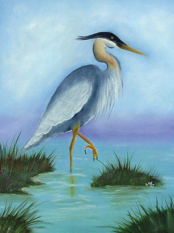 Fowl Print - Patience by Mary Gaines
