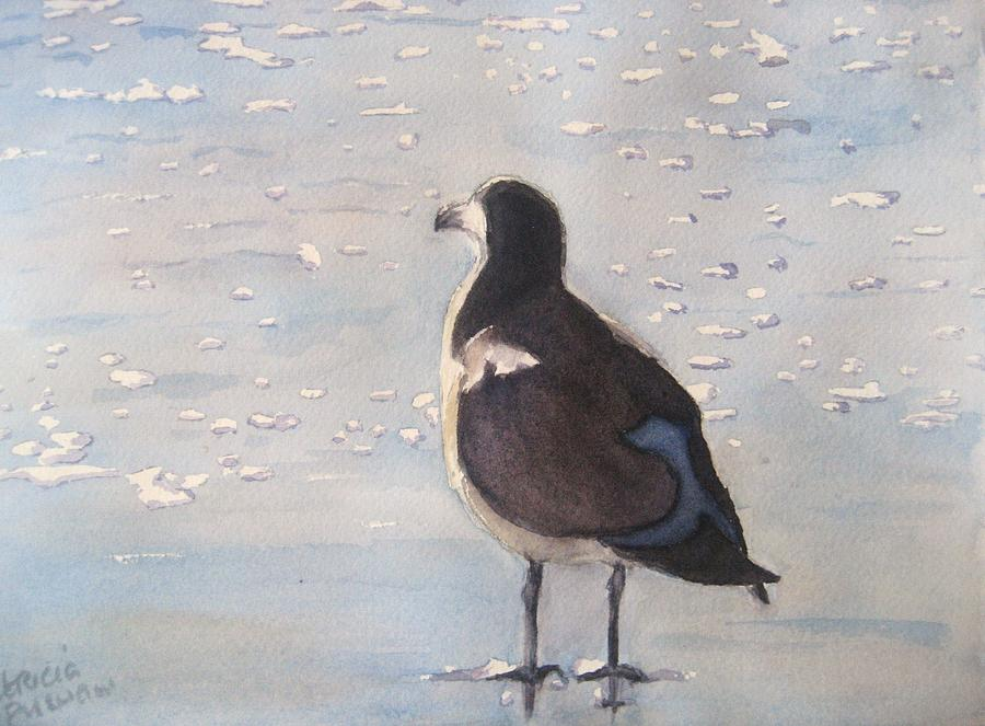 Seagull Painting - Patience by Patricia Pushaw
