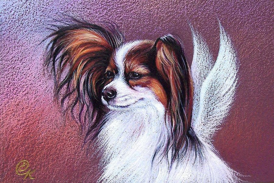 Pet Drawing - Patient Angel  by Elena Kolotusha