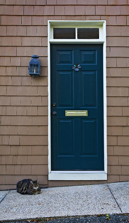 Door Photograph - Patiently Waiting by Murray Bloom