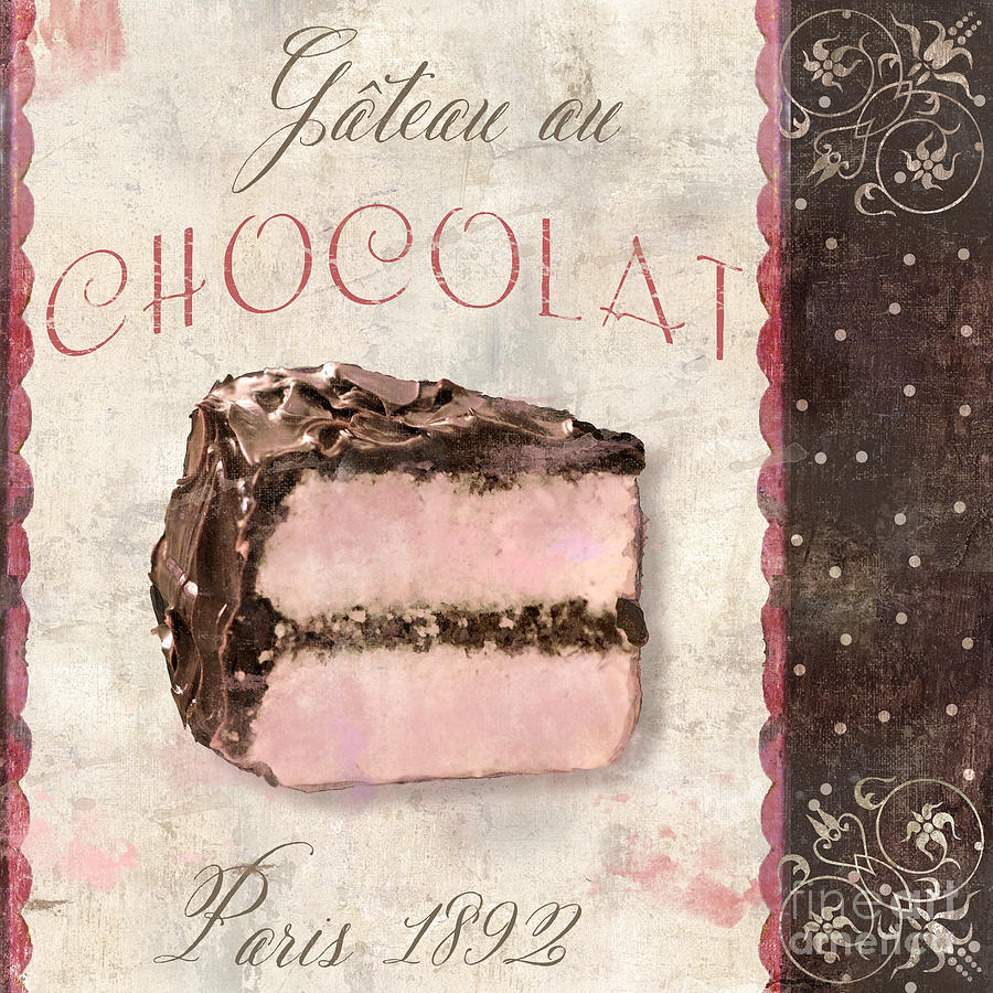 Chocolate Cake Painting - Patisserie Gateau Au Chocolat by Mindy Sommers