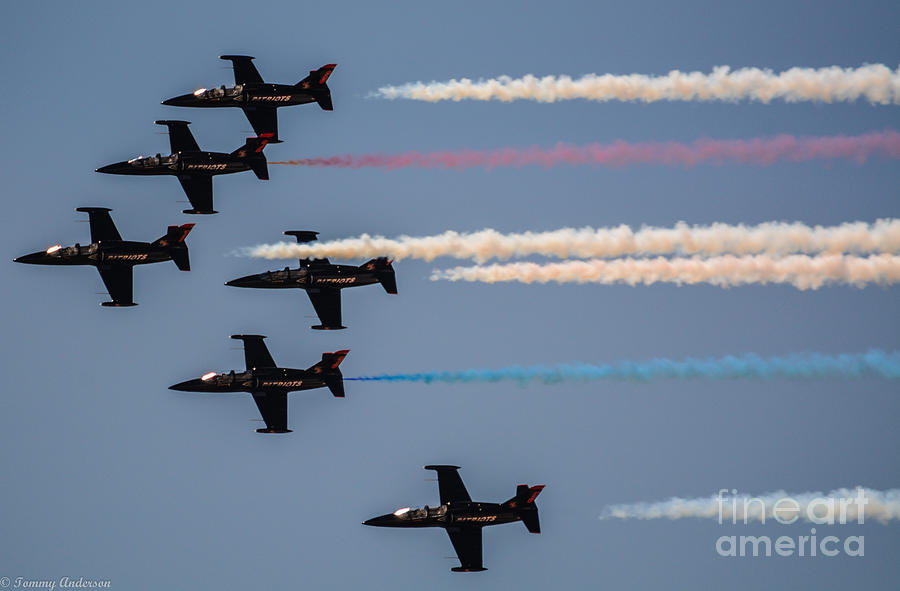Patriots Photograph - Patriot Aerial Demonstration Team by Tommy Anderson