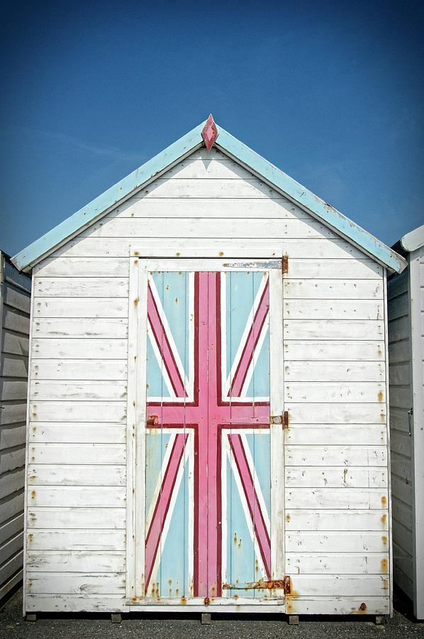 Patriotic Beach Hut by David Birchall