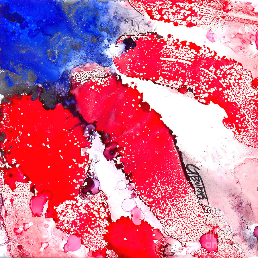Patriotic Painting - Patriotic Flag Abstract  by GG Burns