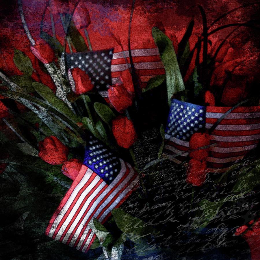 Flag Digital Art - Patriotic Flag by Krista Droop