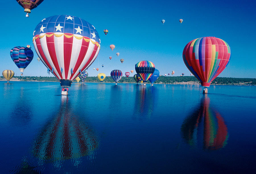 Hot Air Balloons Photograph - Patriotic Hot Air Balloon by Jerry McElroy