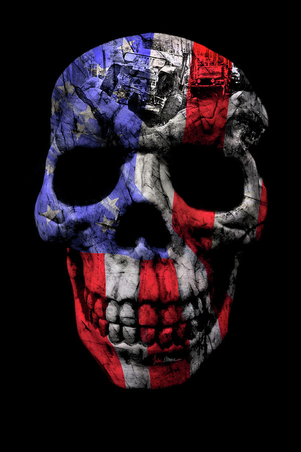 Jeep Photograph - Patriotic Jeeper Skull Yj Wrangler by Luke Moore