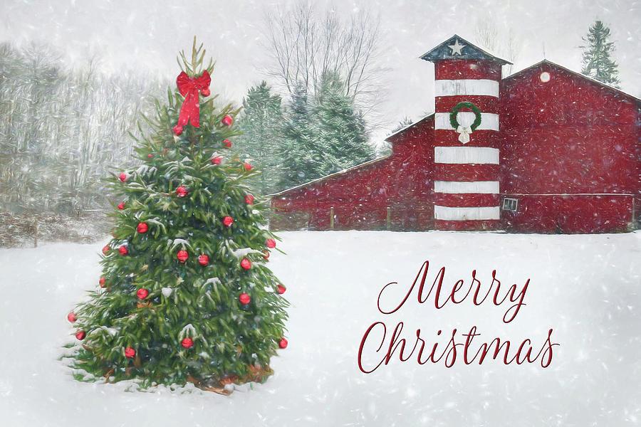 Patriotic Christmas.Patriotic Merry Christmas