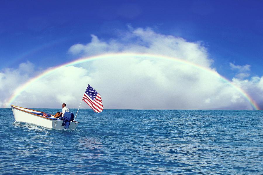 Patriot Photograph - Patriotic Rainbow by Sean Davey
