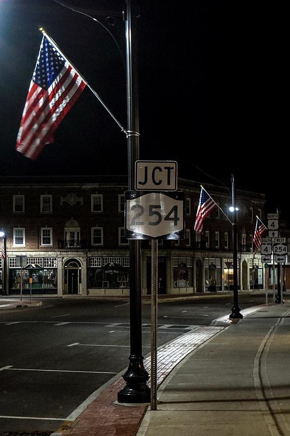 Patriotism In A Small Town Photograph by Kendall McKernon