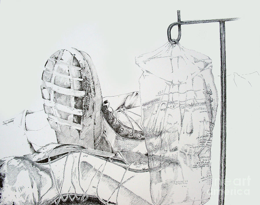 Boot Drawing - Patriotism by Jean Nathan Forges