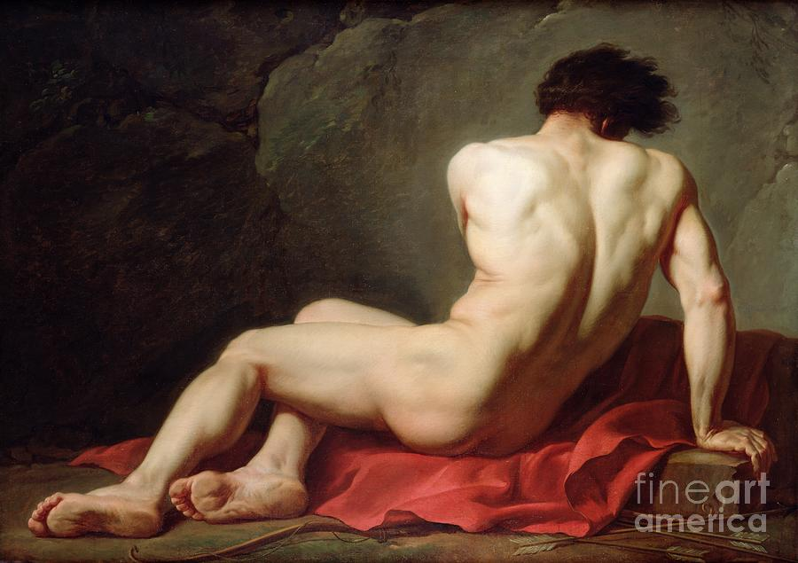 Oil Painting - Patrocles by Jacques Louis David