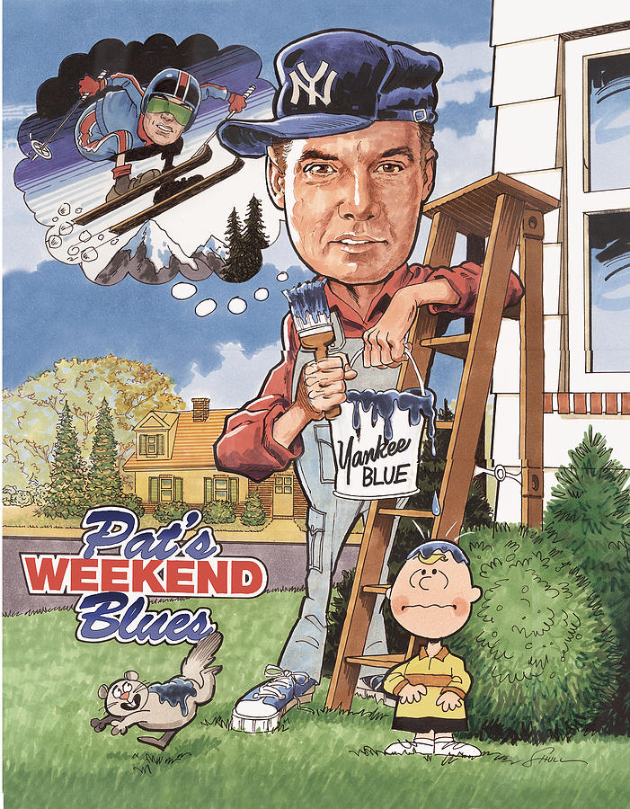 Cartoon Drawing - Pats Weekend Blues by Harold Shull