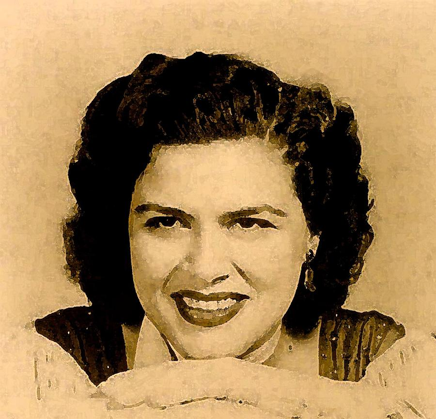 Musicians Painting - Patsy Cline by Jeff DOttavio