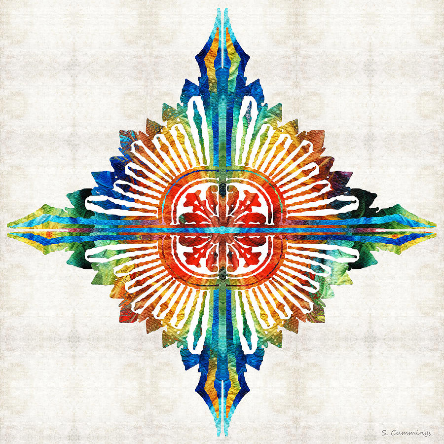 Mandala Painting - Pattern Art - Color Fusion Design 1 By Sharon Cummings by Sharon Cummings