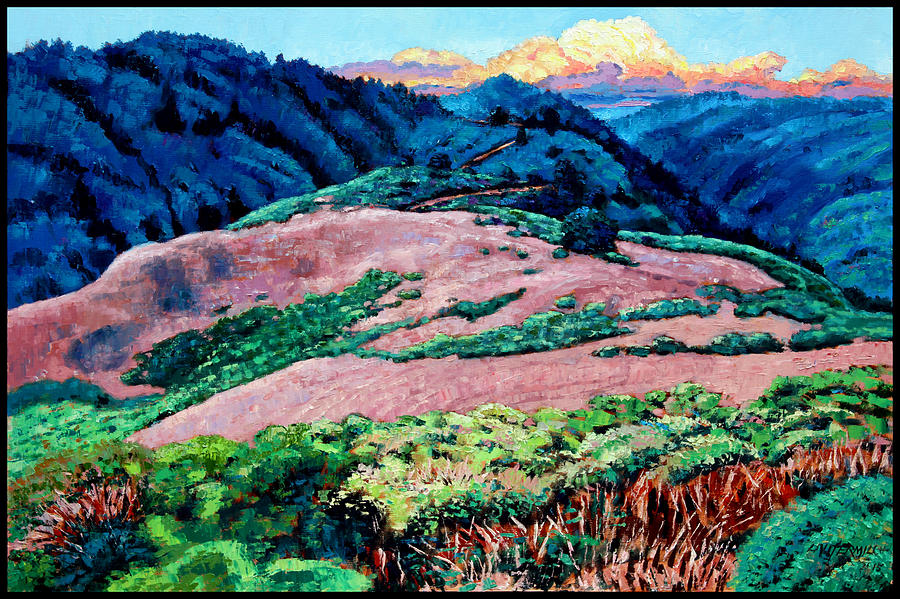 Landscape Painting - Patterns Along the Trail by John Lautermilch