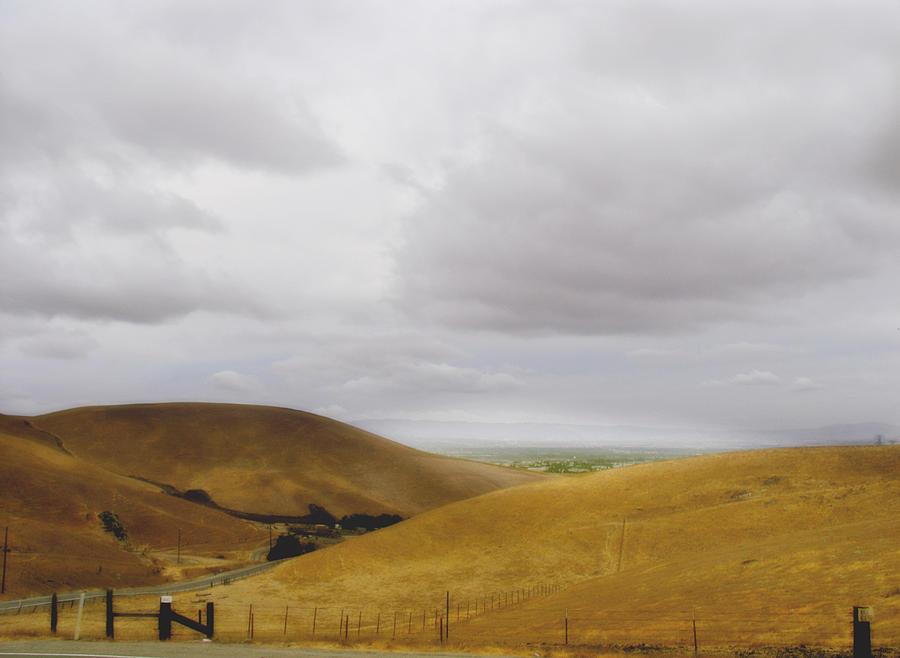 Landscape Photograph - Patterson Pass Road by Karen  W Meyer
