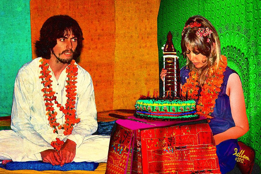 Pattie Boyd Digital Art - Pattie Boyd 24th Birthday by Che Rellom