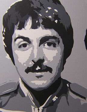 Beatles Painting - Paul 3pc Of 4pc Sgt. Pepper Suite by Michael James Toomy