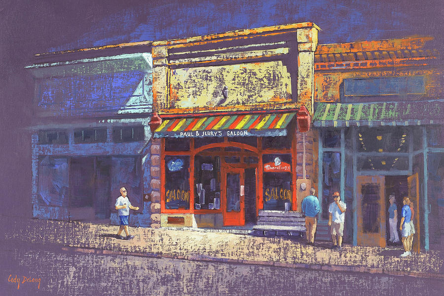 Jerome Az Painting - Paul And Jerrys Saloon by Cody DeLong