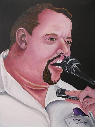 Paul Delay In Concert Painting by Dunbars Modern Art