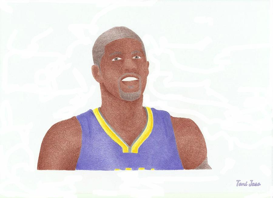 Basketball Drawing - Paul George by Toni Jaso