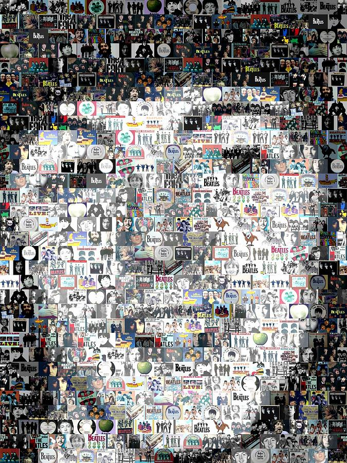 The Beatles Digital Art - Paul Mccartney Beatles Mosaic by Paul Van Scott