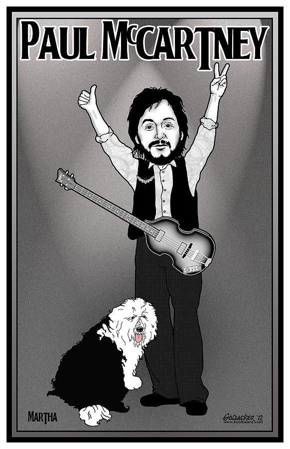 John Lennon Digital Art - Paul Mccartney by John Goldacker