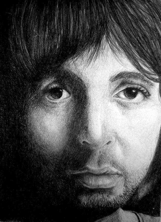 Beatles Drawing - Paul Mccartney by Sean Leonard