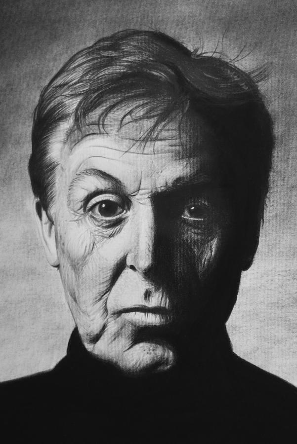 Paul Mccartney Drawing By Steve Hunter