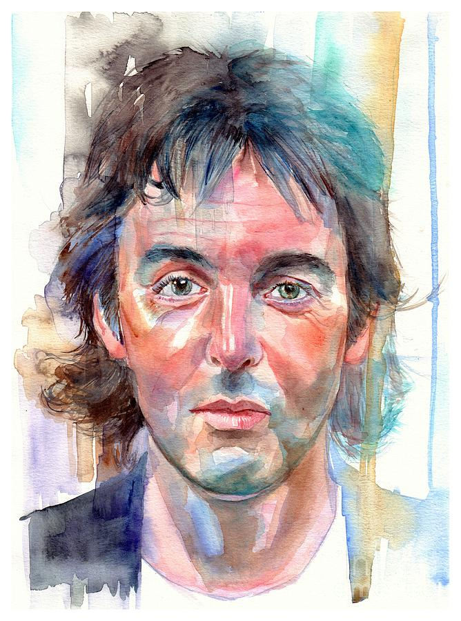 Paul Painting - Paul McCartney young portrait by Suzann Sines