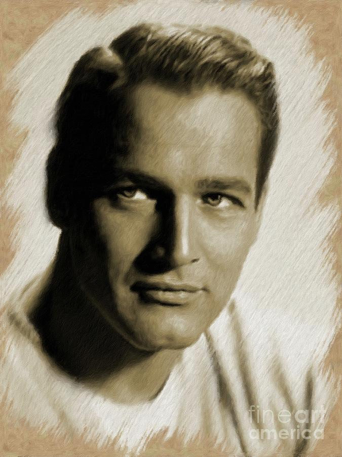 Paul Newman, Actor Painting