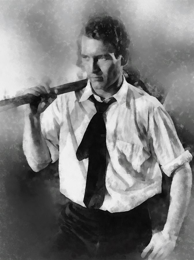Hollywood Painting - Paul Newman By John Springfield by John Springfield