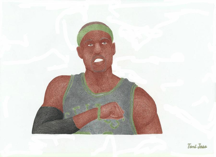 Basketball Drawing - Paul Pierce  by Toni Jaso