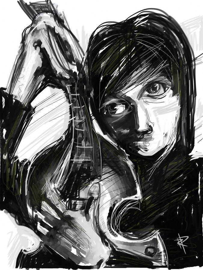 The Beatles Digital Art - Paul by Russell Pierce