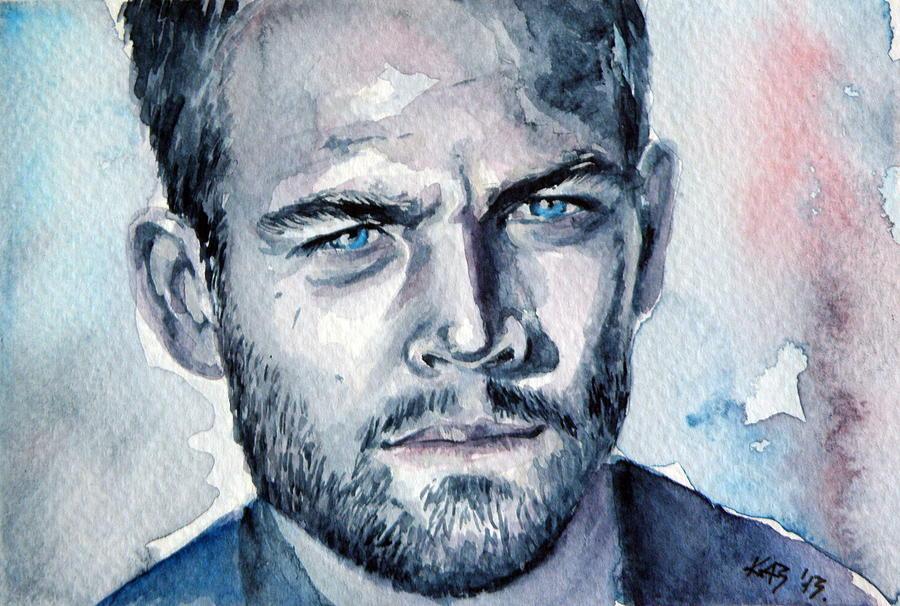 Paul Walker Painting By Kovacs Anna Brigitta