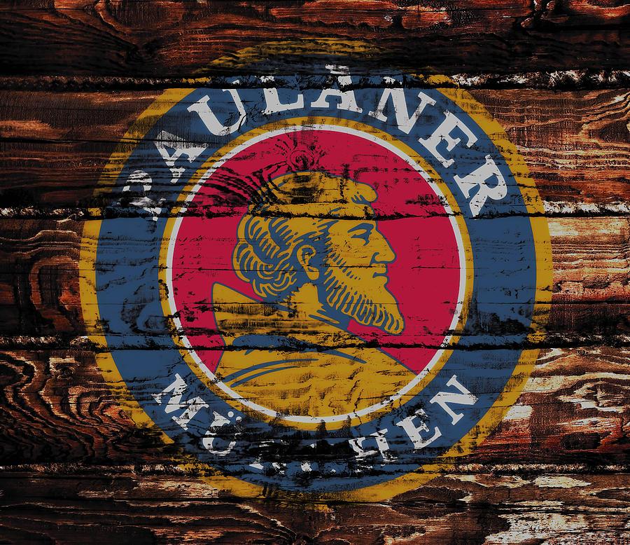Paulaner Mixed Media - Paulaner Beer Sign  by Brian Reaves